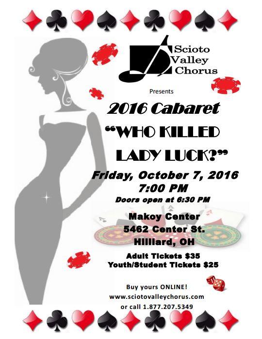 2016 Cabaret - Who Killed Lady Luck?